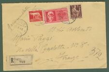 VALORI GEMELLI. Lettera raccomandata espresso del 23.1.1946 da Agri (Salerno)