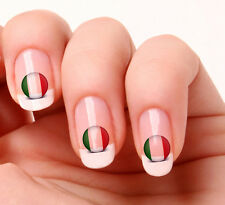 20 Nail Art Decals Transfers Stickers #370 - World Cup Italy flag icon