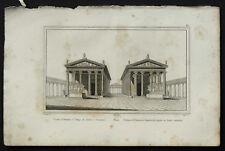 1836:ROM,PORTICO OTTAVIA TEMPIO GIOVE/GIUNONE AUDOT.Acc
