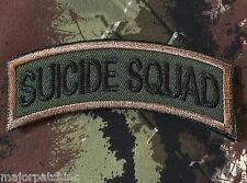 SUICIDE SQUAD ARMY TAB ROCKER TACTICAL USA MILITARY MORALE FOREST HOOK PATCH