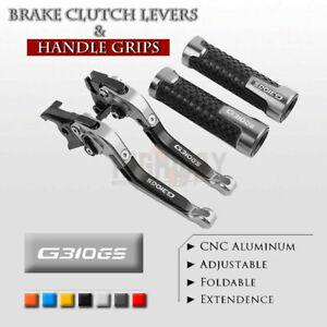 Adjustable Folding Brake Clutch Levers Handle Grips Set for BMW G310GS 2017-2019
