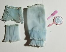 Vtg 1962 Barbie Blue Undergarments LINGERIE PAK Slip Panties Girdle Mirror Brush