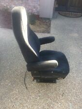 Used  Air Ride Seat, High Profile Base, High Back, Black Cloth truck