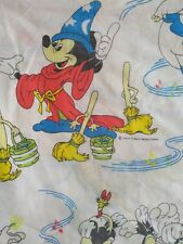 Walt Disney Mickey Mouse Fantasia Sorcerers Apprentice Twin Flat Sheet