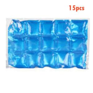 15 Reusable Flexible Ice Pack Fridge Freezer Summer Cool Lunch Box Travel Cooler