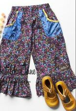 Girls 435 MATILDA JANE Paint by numbers Mediterranean Ruffles pants SIZE 8 EUC