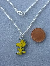 "Woodstock Enamel Charm Pendant Necklace 18"" Snoopy Birthday Gift Present # 180"