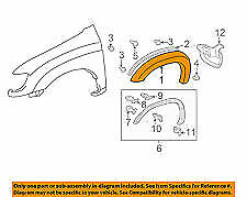 New PRE PAINTED Passenger RH Fender Flare for 2005-2006 Toyota Tundra Double Cab