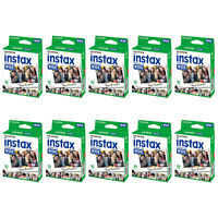 10 Packs 100 Instant Photos Fuji FujiFilm Instax Wide Film Polaroid Camera 300