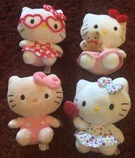 4 Ty Beanie Babies Hello Kitty Plush