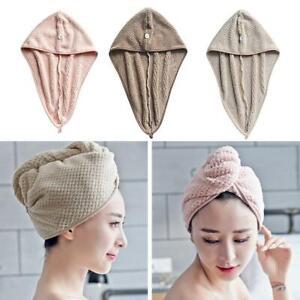 1Pc Cotton Dry Hair Cap Quick Dry Shower Towel Wrap Hat Microfiber Towels