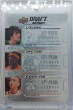 2009-10 Upper Deck Draft Edition Stephen Curry Rookie RC trio Ricky Rubio, Flynn