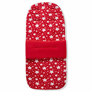 Fleece Footmuff / Cosy Toes Compatible with Cybex Eezy - Red Star