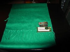 Dormeuil scarf 100%cashmere,heavy,velour 30cmx120cm,green vintage,with franse.
