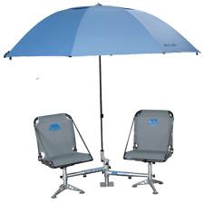 Millennium D200 Seat Stand W/ Umbrella & Holder Plus 2ea Pro-M 100 White Seats