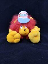 Kraft Merch Madness Lion Plush Toy Advertising Promo Orange Red Fuzzy 12 Inches