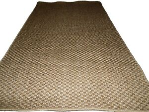 47'' x 79'' 100% Sisal Natural Runner rug Non-Slip Backing Latex  Contemporary .
