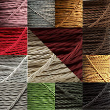 Braided Cloth Twisted Wire Flex 3Core 3Amp Double Insulated in Various Colours