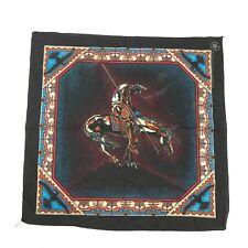 Vtg SOUTHWEST Native American Horse 50/50 Bandana Wall Thunderbird Fabric USA