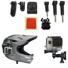 Adeguamento CURVO Adesivo CASCO SIDE MOUNT KIT PER GoPro HD HERO 1 2 3 3 + PACK