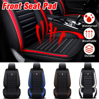 2xBreathable Universal  Interior PU Leather Car Front Seat Covers Auto Supplies