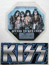 Kiss Concert Laminate Pass Promo 2004 Laredo