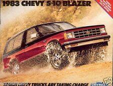 Truck Brochure - Chevrolet - Chevy - S-10 Blazer - 1983 (TB835)