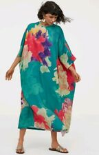 2019 Trend LIMITED EDITION Teal Pink Purple H&M Patterned Kaftan S Blogger BNWT