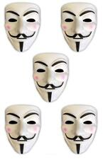 5x V wie Vendetta Maske | Anonymous | Party Halloween Karneval Maske