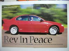HOLDEN HSV VT COMMODORE XU8 5 PAGE MAGAZINE ROAD TEST ARTICLE