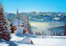 Rigi-kalbad-camino al känzeli-vista coloreada tarjeta - 0423