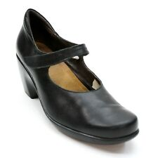 NAOT Ladies 42 (11) Mary Jane Pumps Black Leather Comfort Heels Clogs