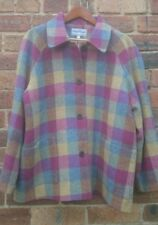 "DONEGAL Irish 100% Wool Tweed Tartan Herringbone Coat 18 50"" Chest Warm as Toast"