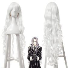 Women Lolita White Long Curly Wavy Wave Cosplay Wig Anime Wigs Hair USA Ship