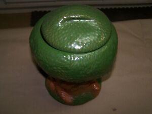 Vintage 1981 Keebler Elf Tree house Ceramic Lidded Cookie Jar