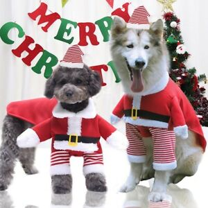 Weihnachten Haustier Kleidung Hundejacke Wintermantel Hund Kostüme Santa Cosplay