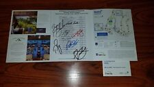 Sentry Tournament Champions Pairings Sheet Signed Dechambeau Kizzire PGA Kapalua