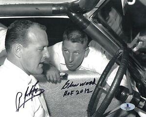 A.J. FOYT & GLEN WOOD DUAL SIGNED 8x10 PHOTO + HOF 12 RACING LEGENDS BECKETT BAS