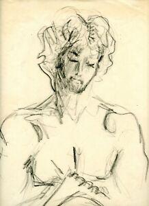 WRITING Male Man Figure Sketch Original Comic Art Drawing