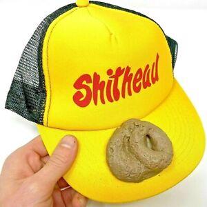 S#*HEAD POOP HAT Baseball Fake Rubber Crap Cap Poo Dog Trucker Mesh GaG Gift