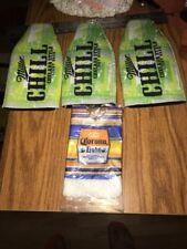 Miller Chill Chelada  Beer Bottle Sleeve Koozie & Corona Light Poncho  Lot Of 4
