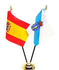 Spain State & Spain Galicia Double Friendship Table Flag Set