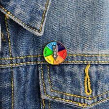 Enamel Pin Badges - Set of 1 - FCUK Rainbow Wheel - EB0080