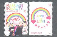 Australia-Love-marriage-Equality mnh set 2019