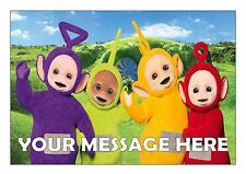 TELETUBBIES BIRTHDAY  CAKE TOPPER  A4  EDIBLE ICED/ ICING PERSONALISED