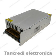 ALIMENTATORE 12V 50A TRIMMER SWITCHING CONTENITORE METALLICO GRIGLIATO 600W LED