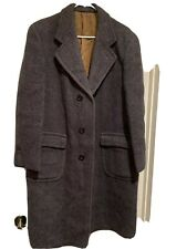 VTG 60's Cheviot Wool Tweed Trench Coat Anderson Little Co  Sz L/XL