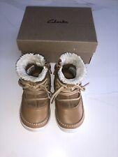 Clarks Alpine Boots Tan Infant Size 4