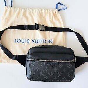 Louis Vuitton Monogram Black Belt Bag Fanny Pack