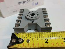 Idec Sr3p 06 Relay Socket Base 11 Pin 300v 10a 3p Din Rail M3 Screw Octal Rr New